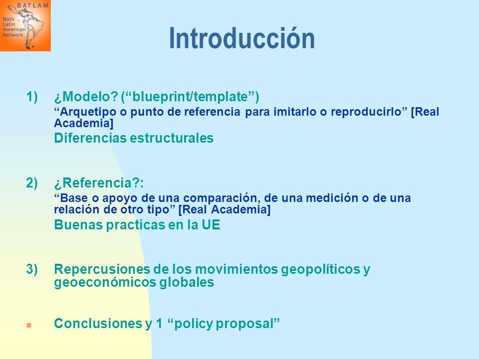 Introducción 1)¿Modelo? (blueprint/template) Arquetipo o punto de referencia para imitarlo o reproducirlo [Real Academia] Diferencias estructurales 2)