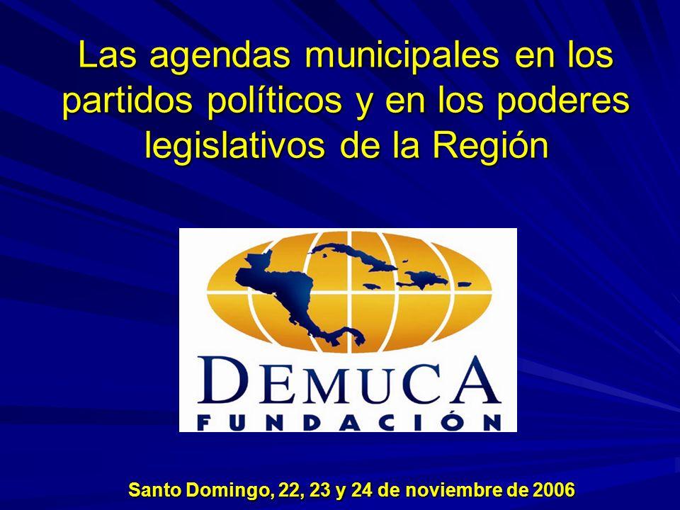 La Agenda Para definir la agenda municipal partimos de la premisa de que la estructuración del Estado implica una división funcional de poderes (Legislativo, Ejecutivo, Judicial).