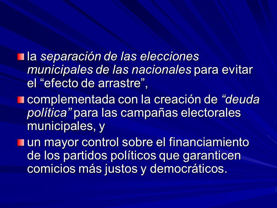 Problemas encontrados En general, encontramos una carencia de agenda de fortalecimiento municipal y cuando existe el papel de las autoridades locales es marginal en su elaboración.
