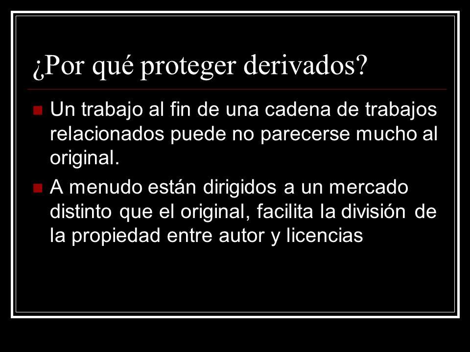 ¿Por qué proteger derivados.
