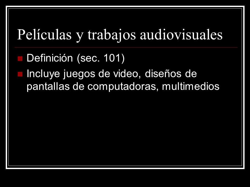 Películas y trabajos audiovisuales Definición (sec.