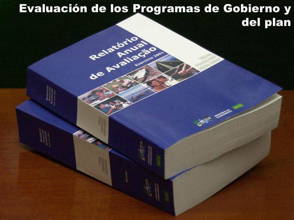 15 Evaluación de los Programas de Gobierno y del plan