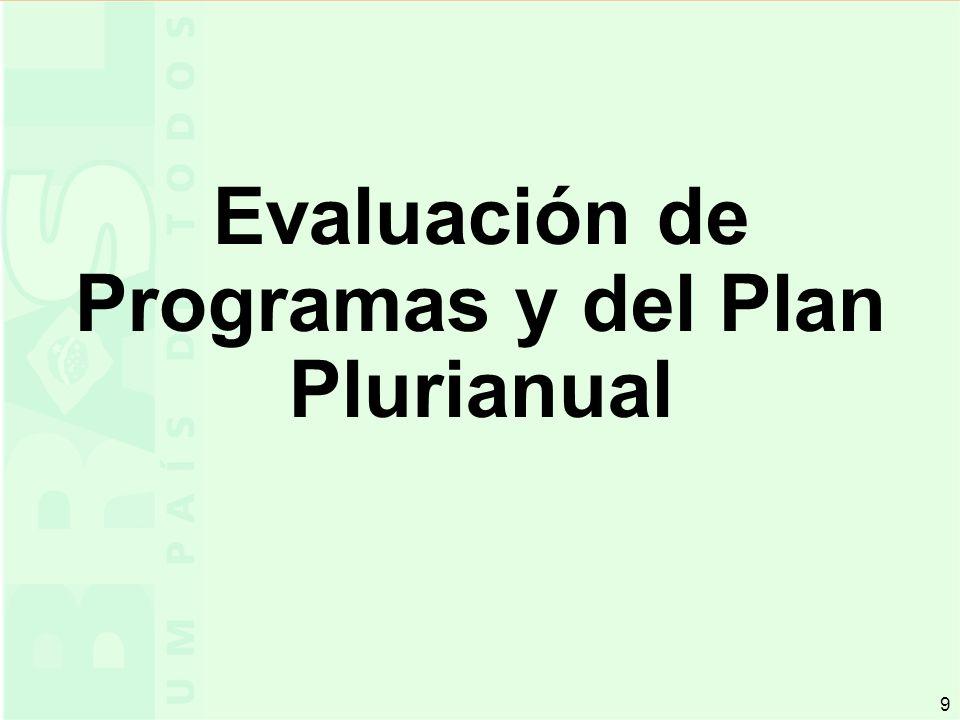 9 9 Evaluación de Programas y del Plan Plurianual