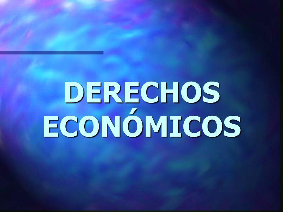 DERECHOS ECONÓMICOS