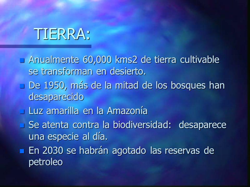 DEMOGRAFIA: n Después de 150,000 años, la humanidad alcanzó: n 1939: 1,500 millones n 1969: 3,000 millones n 1999: 6,000 millones n 2039: 12,000 millo