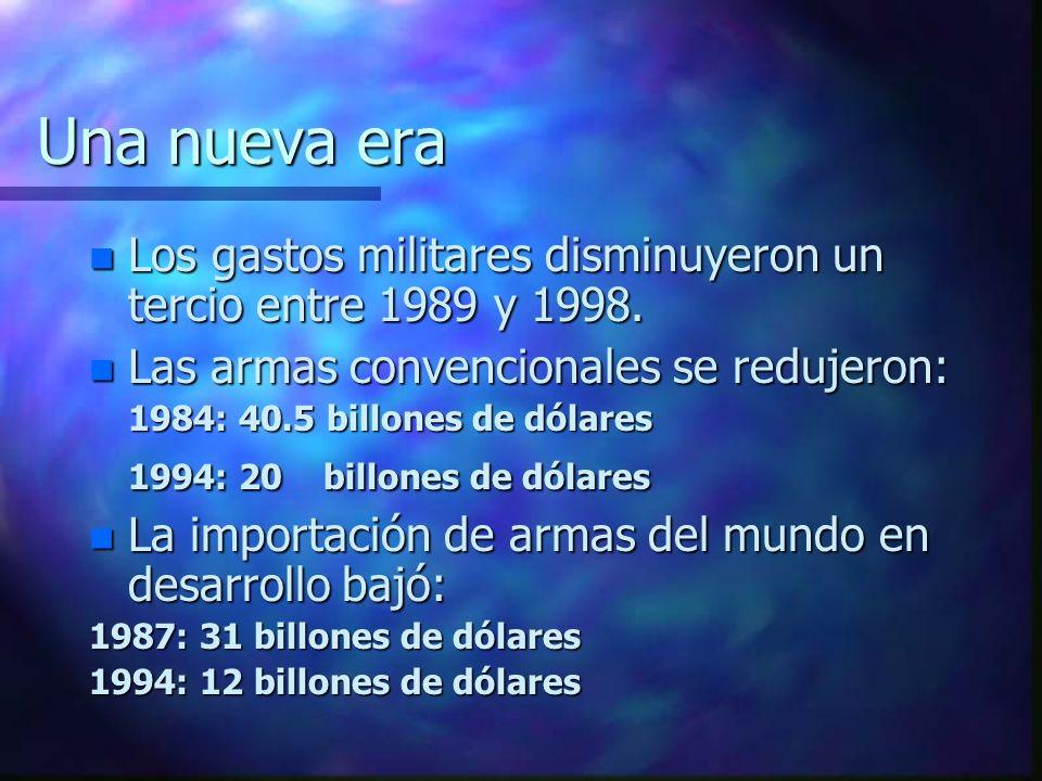 La Guerra Fría 1945-1989 Dos superpotencias en absurda y costosa carrera armamentista. n Hubo 250 guerras importantes hasta 1996. n 23 millones de mue