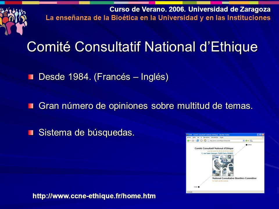 Curso de Verano. 2006.