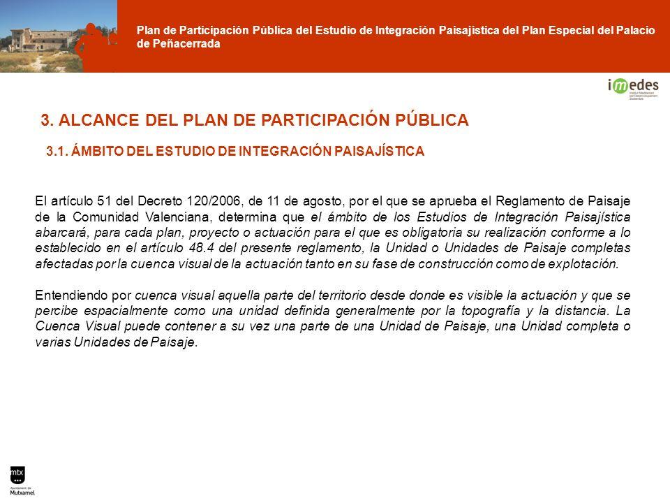 Plan de Participación Pública del Estudio de Integración Paisajística del Plan Especial del Palacio de Peñacerrada 3. ALCANCE DEL PLAN DE PARTICIPACIÓ