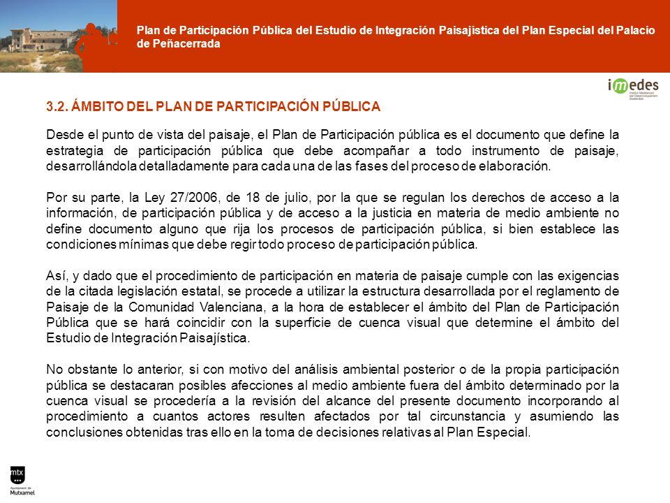 Plan de Participación Pública del Estudio de Integración Paisajística del Plan Especial del Palacio de Peñacerrada 3.2. ÁMBITO DEL PLAN DE PARTICIPACI