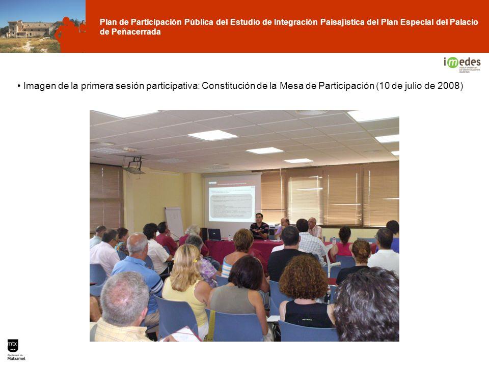 Plan de Participación Pública del Estudio de Integración Paisajística del Plan Especial del Palacio de Peñacerrada Imagen de la primera sesión partici