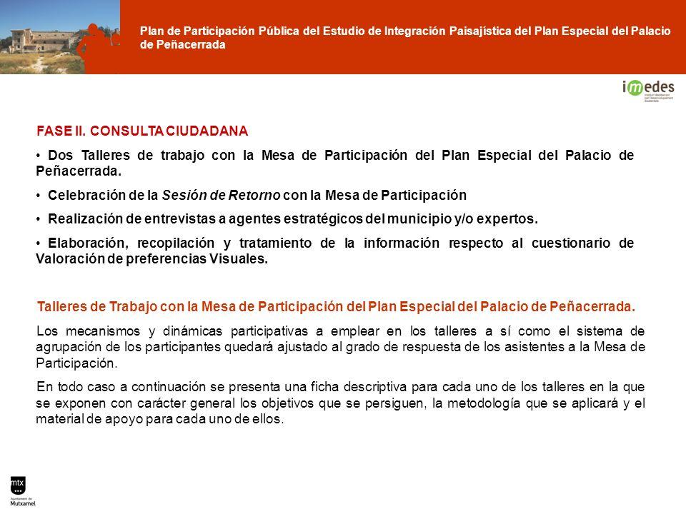 Plan de Participación Pública del Estudio de Integración Paisajística del Plan Especial del Palacio de Peñacerrada FASE II. CONSULTA CIUDADANA Dos Tal