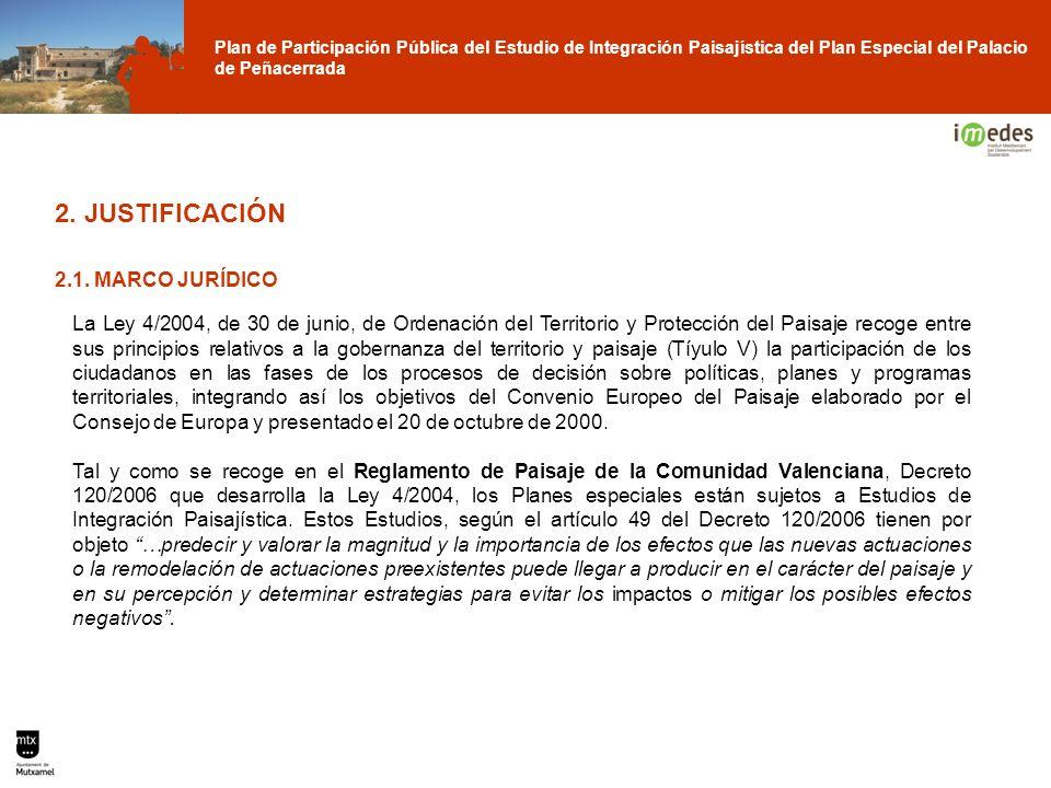 Plan de Participación Pública del Estudio de Integración Paisajística del Plan Especial del Palacio de Peñacerrada La Ley 4/2004, de 30 de junio, de O