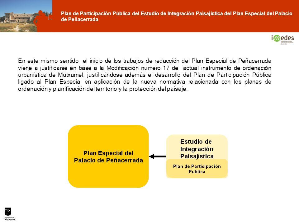 Plan de Participación Pública del Estudio de Integración Paisajística del Plan Especial del Palacio de Peñacerrada En este mismo sentido el inicio de