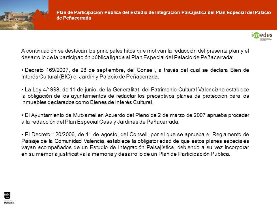 Plan de Participación Pública del Estudio de Integración Paisajística del Plan Especial del Palacio de Peñacerrada A continuación se destacan los prin