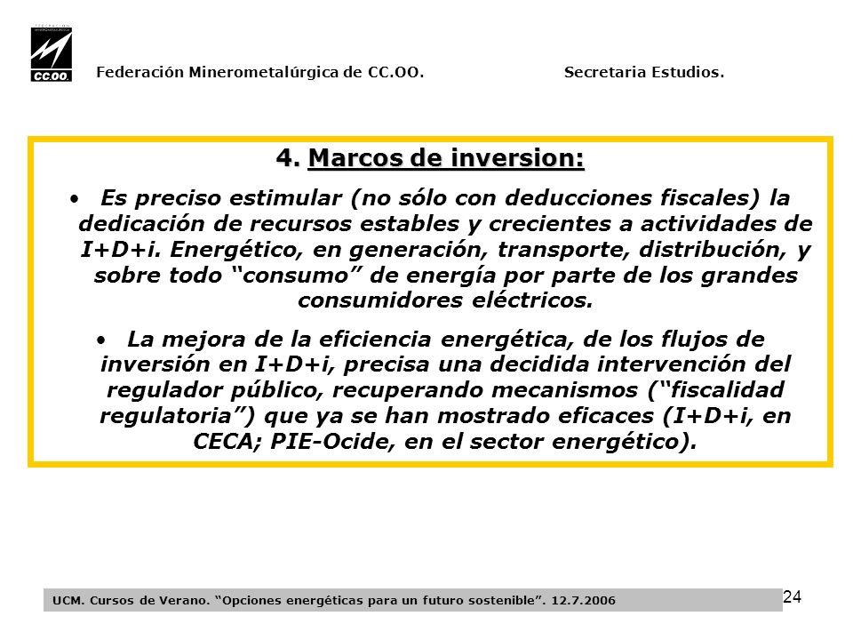 24 Federación Minerometalúrgica de CC.OO. Secretaria Estudios.