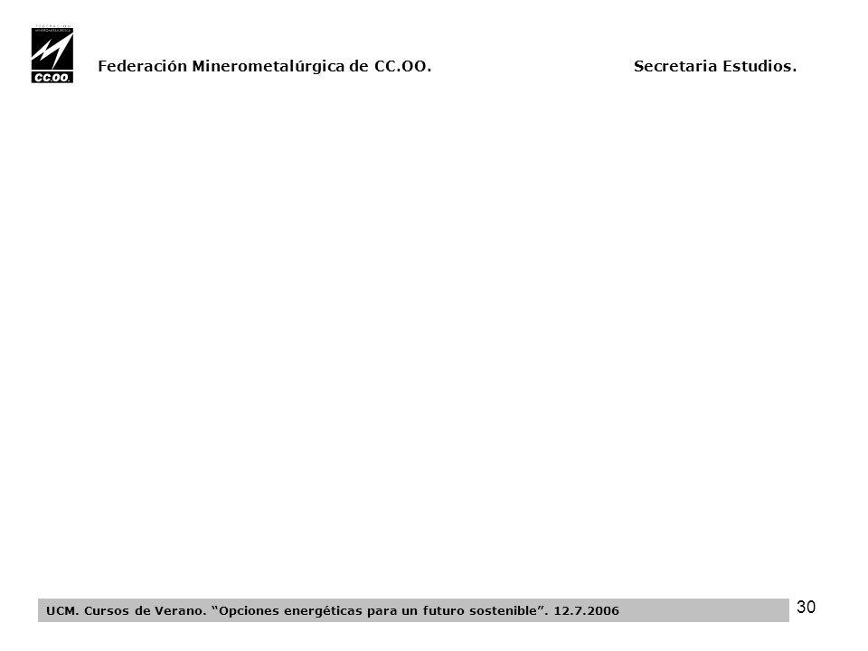 30 Federación Minerometalúrgica de CC.OO. Secretaria Estudios.