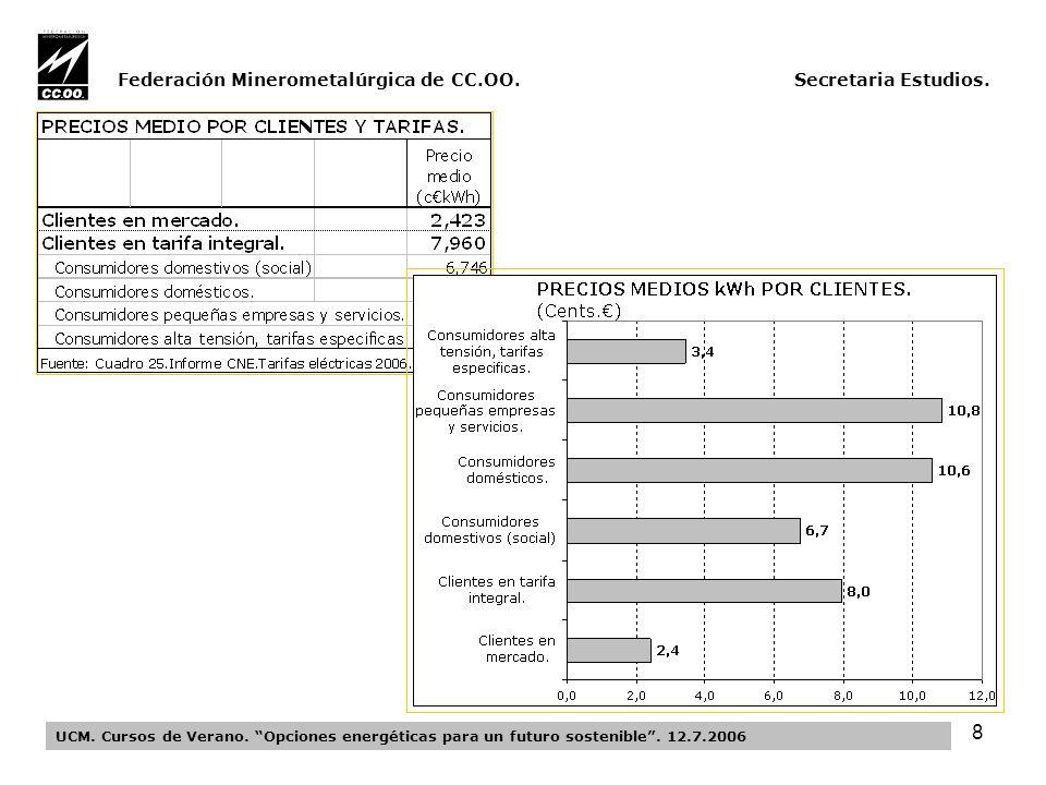 19 Federación Minerometalúrgica de CC.OO.Secretaria Estudios.