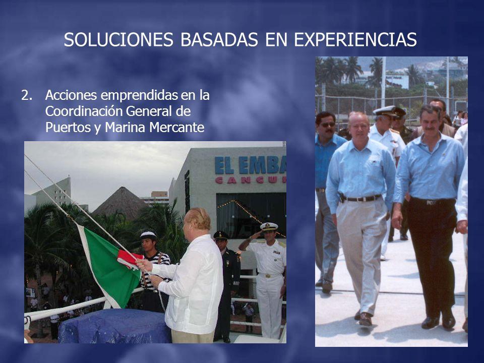 2.Acciones emprendidas en la Coordinación General de Puertos y Marina Mercante