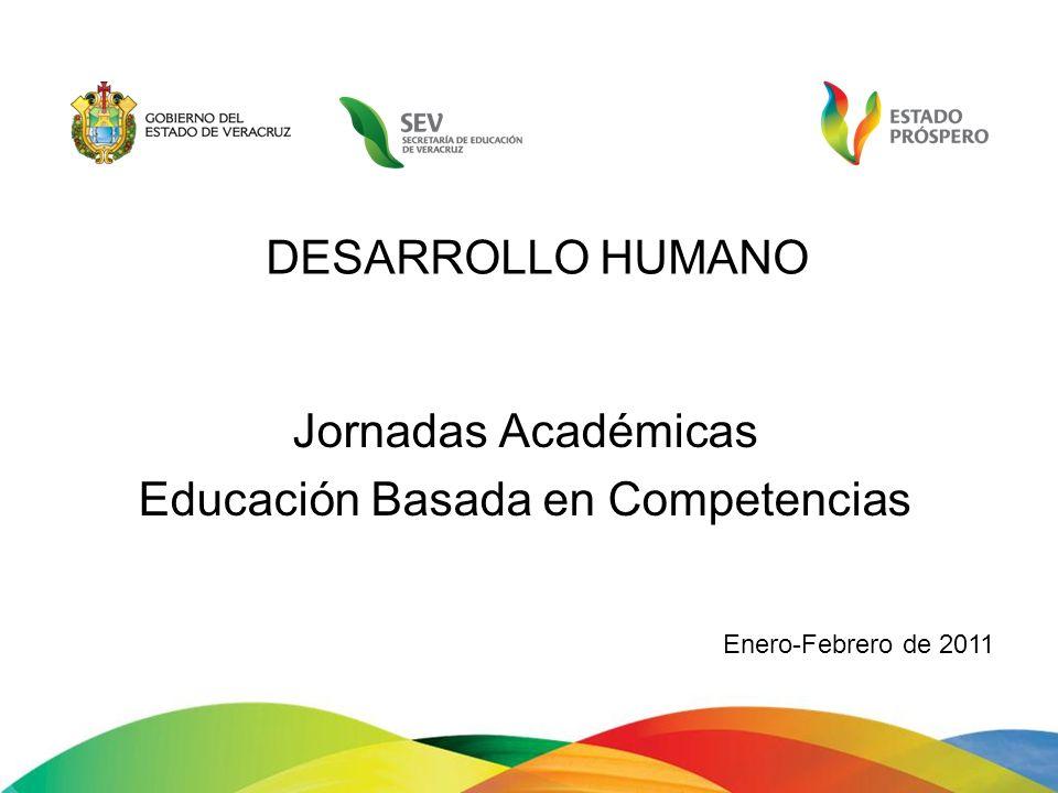 DESARROLLO HUMANO Jornadas Académicas Educación Basada en Competencias Enero-Febrero de 2011