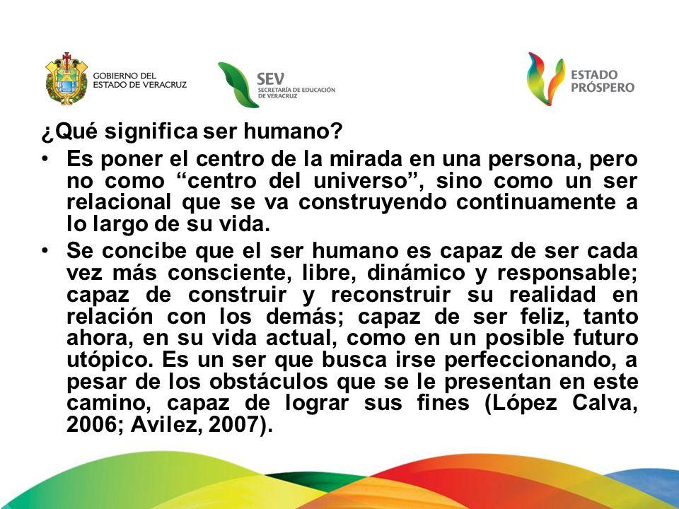 ¿Qué significa ser humano? Es poner el centro de la mirada en una persona, pero no como centro del universo, sino como un ser relacional que se va con