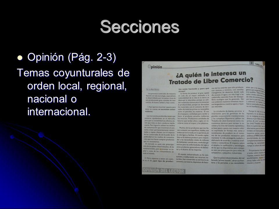 Secciones Opinión (Pág. 2-3) Opinión (Pág.