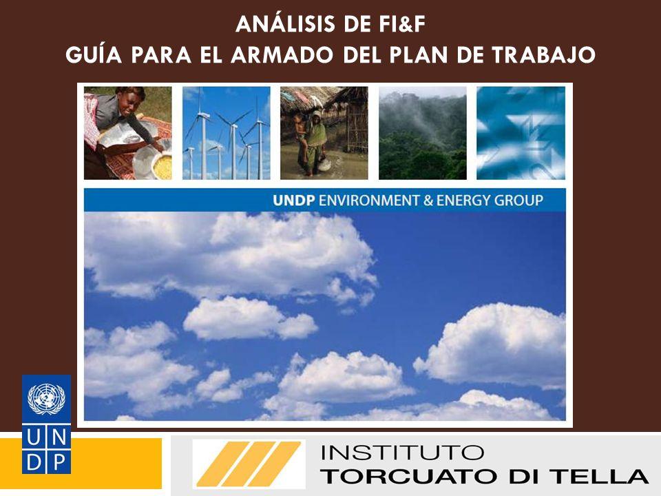 ANÁLISIS DE FI&F GUÍA PARA EL ARMADO DEL PLAN DE TRABAJO Directrices para la presentación de informes Metodología de FI & FF del PNUD