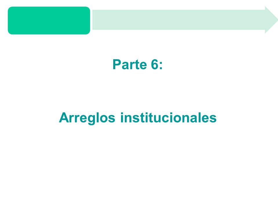 Parte 6: Arreglos institucionales