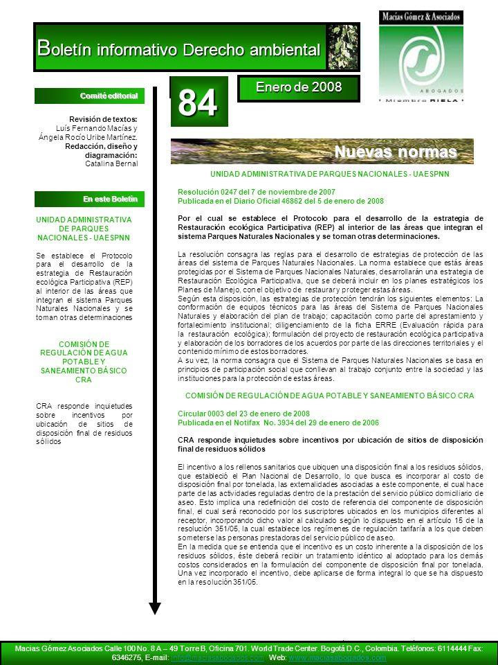 Nuevas normas Macias Gómez Asociados Calle 100 No. 8 A – 49 Torre B, Oficina 701. World Trade Center. Bogotá D.C., Colombia. Teléfonos: 6114444 Fax: 6
