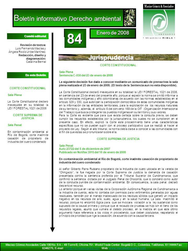 Revisión de textos: Luis Fernando Macías y Ángela Rocío Uribe Martínez. Redacción, diseño y diagramación: Catalina Bernal En este Boletín Comité edito