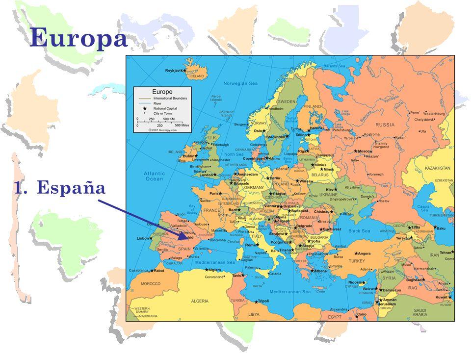 España Capital: Madrid Aquí se originó el castellano –lengua romance que proviene del latín.