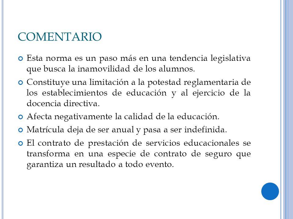 ARTICULO 11 LA PROHIBICION DE SELECCIONAR ALUMNOS Y LA REGULACION LEGAL DE LOS PROCESOS DE ADMISION