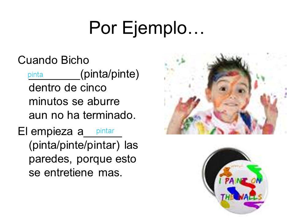 En el colegio… Pobre Bicho, no _______(saca / saque / sacar) buenas notas en la escuela porque no puede prestar atención por mas de cinco minutos.