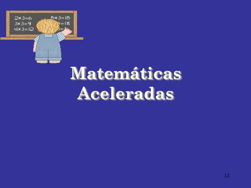 12 Matemáticas Aceleradas