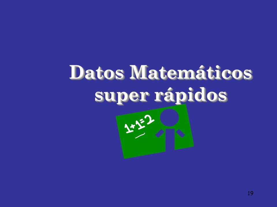 19 Datos Matemáticos super rápidos