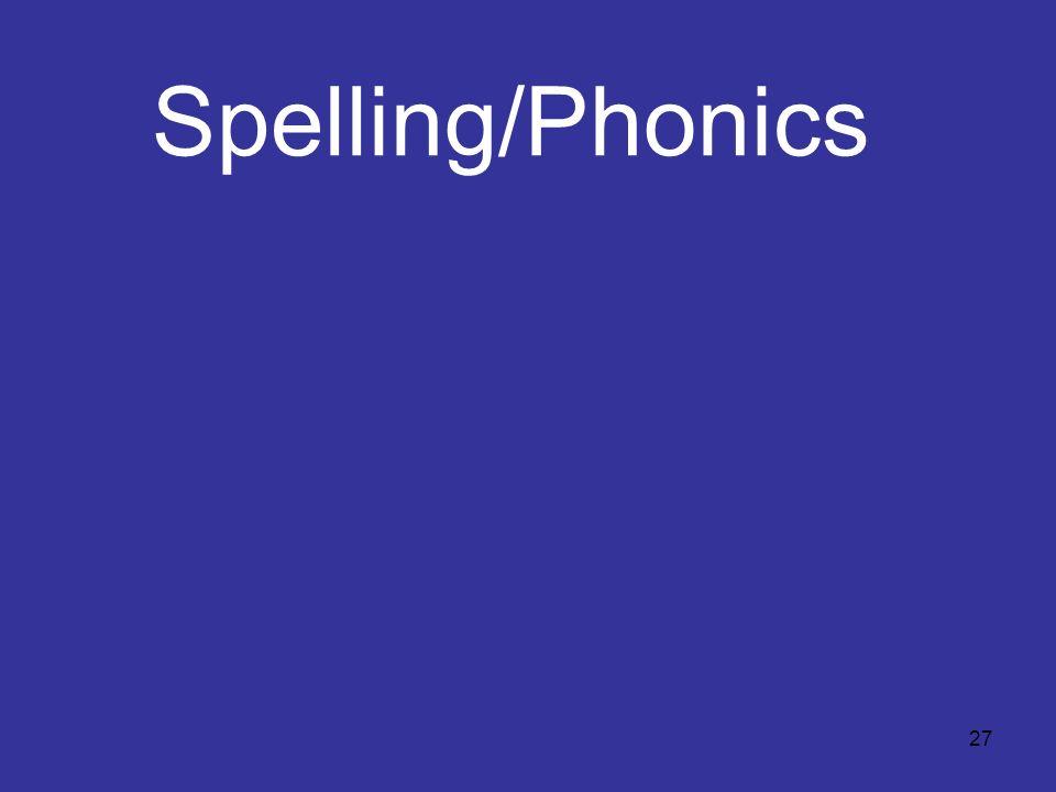 27 Spelling/Phonics