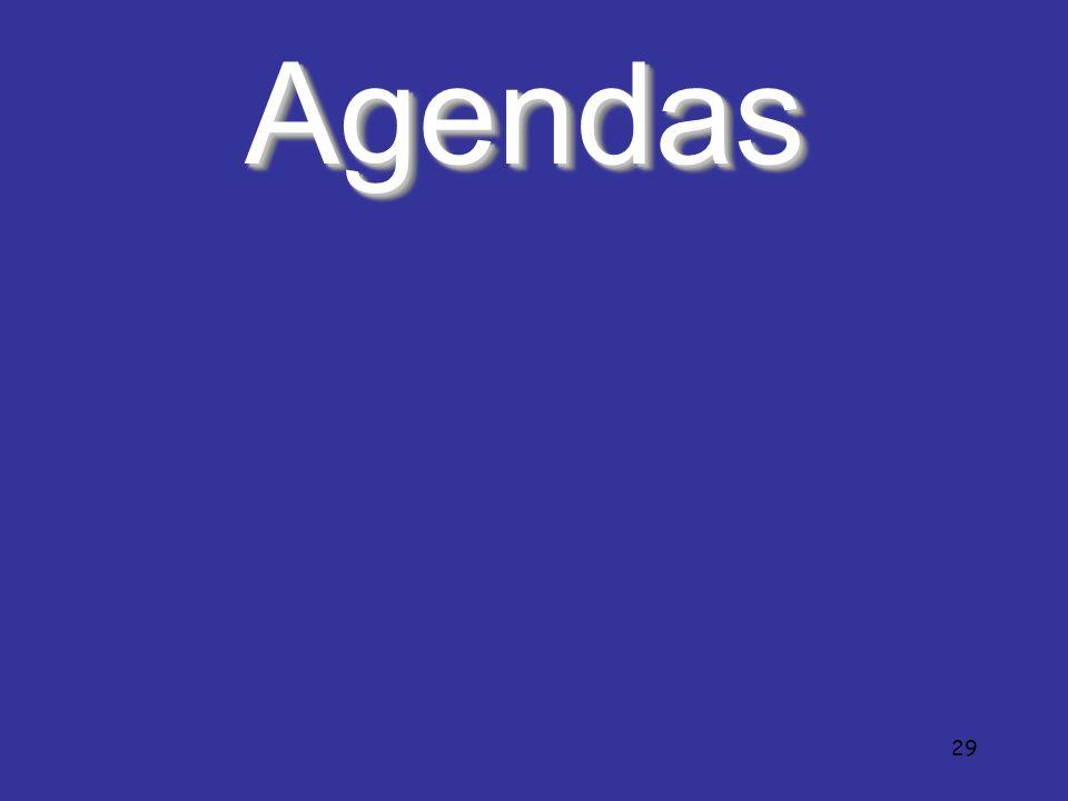 29 AgendasAgendas