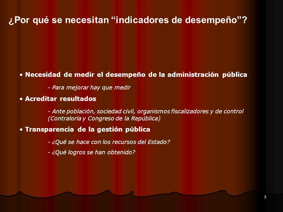 3 Necesidad de medir el desempeño de la administración pública - Para mejorar hay que medir Acreditar resultados - Ante población, sociedad civil, org