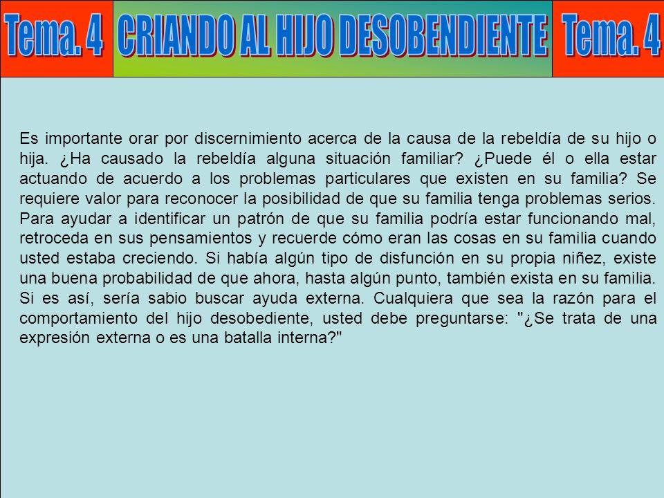 Tema 4: Desobediencia H ¿Qué es ser desobediente.