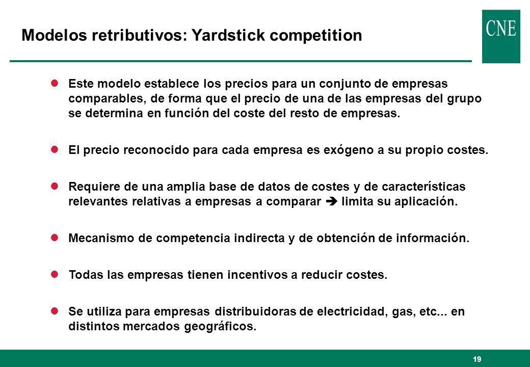 19 lEste modelo establece los precios para un conjunto de empresas comparables, de forma que el precio de una de las empresas del grupo se determina en función del coste del resto de empresas.