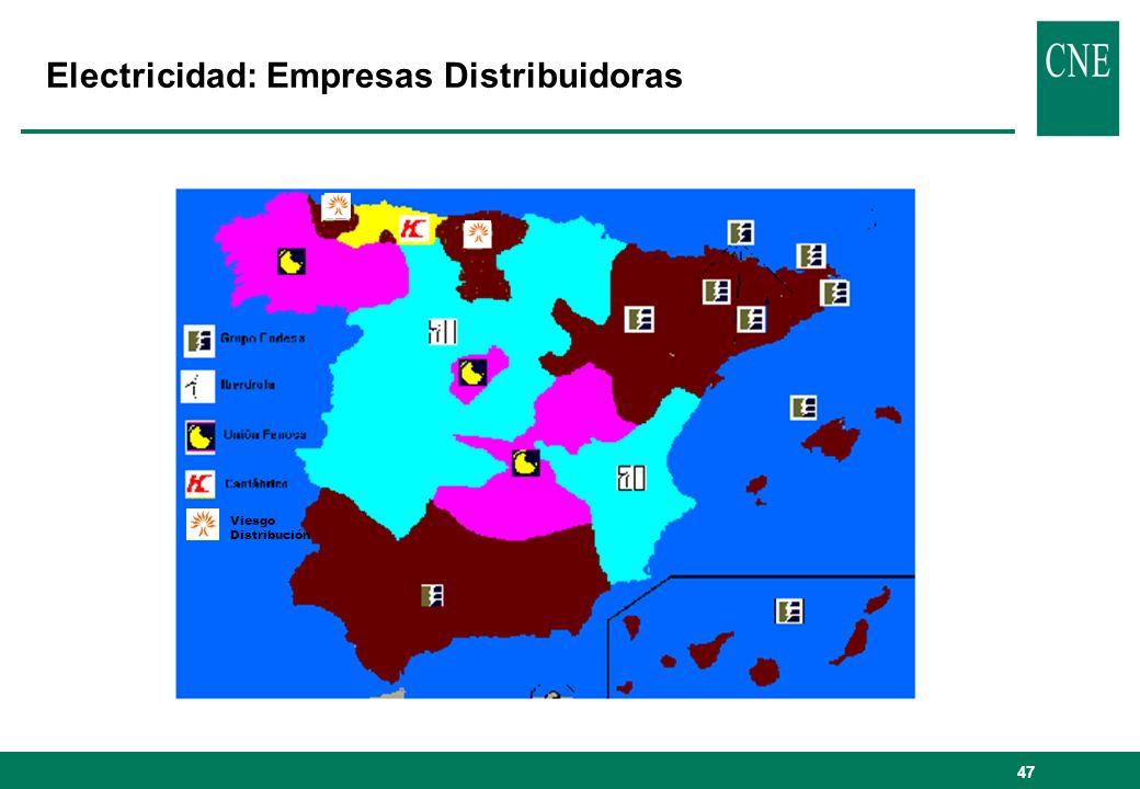 47 Electricidad: Empresas Distribuidoras Viesgo Distribución