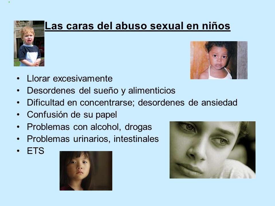 Estadisticas del Abuso Sexual Infantil 95% de las víctimas conocen a sus autores 1,3 millones de niños son abusados sexualmente cada año 20% de los ni