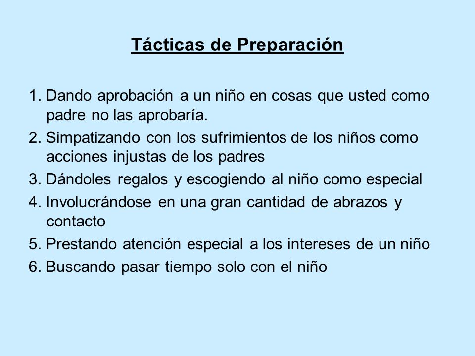 Tácticas de Preparación 1.