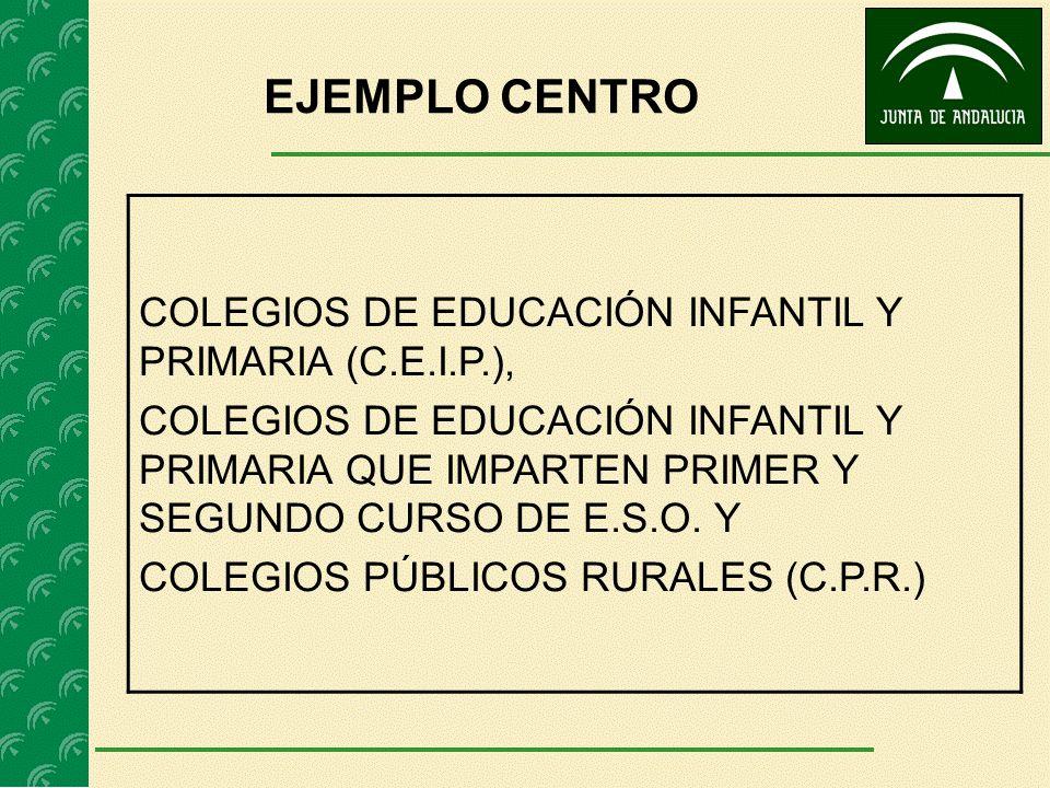 EJEMPLO CENTRO COLEGIOS DE EDUCACIÓN INFANTIL Y PRIMARIA (C.E.I.P.), COLEGIOS DE EDUCACIÓN INFANTIL Y PRIMARIA QUE IMPARTEN PRIMER Y SEGUNDO CURSO DE