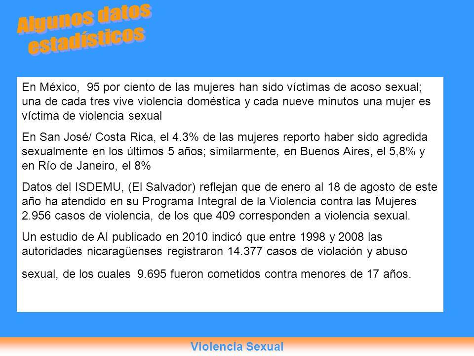 En México, 95 por ciento de las mujeres han sido víctimas de acoso sexual; una de cada tres vive violencia doméstica y cada nueve minutos una mujer es