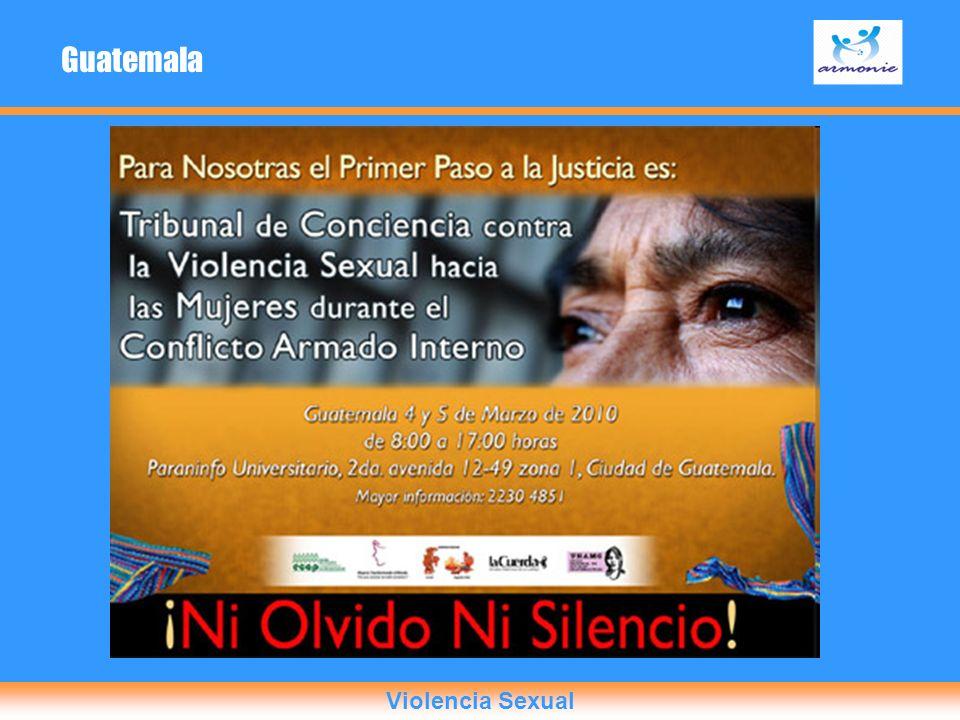 Guatemala Violencia Sexual