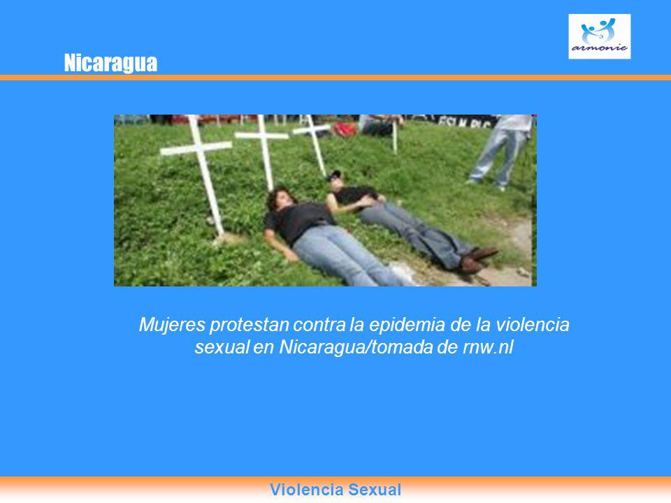 Mujeres protestan contra la epidemia de la violencia sexual en Nicaragua/tomada de rnw.nl Nicaragua Violencia Sexual