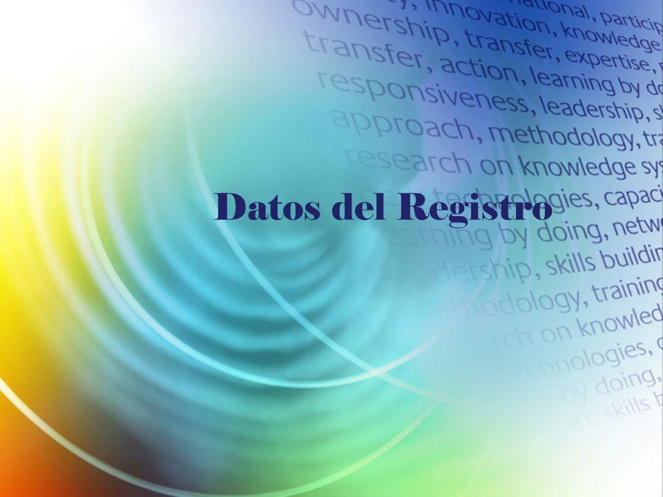 Datos del Registro
