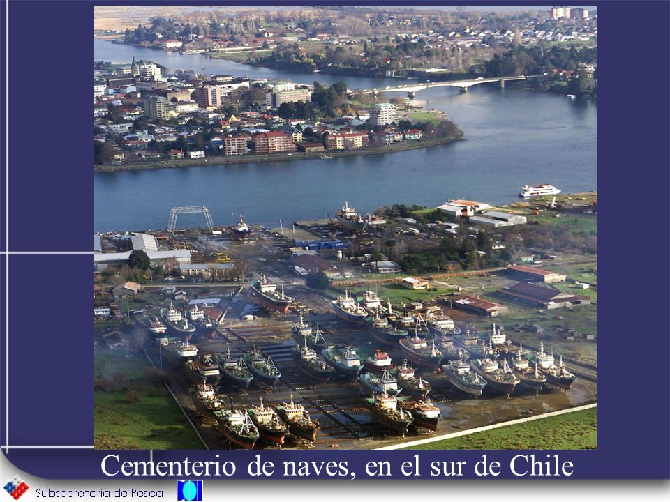 Cementerio de naves, en el sur de Chile