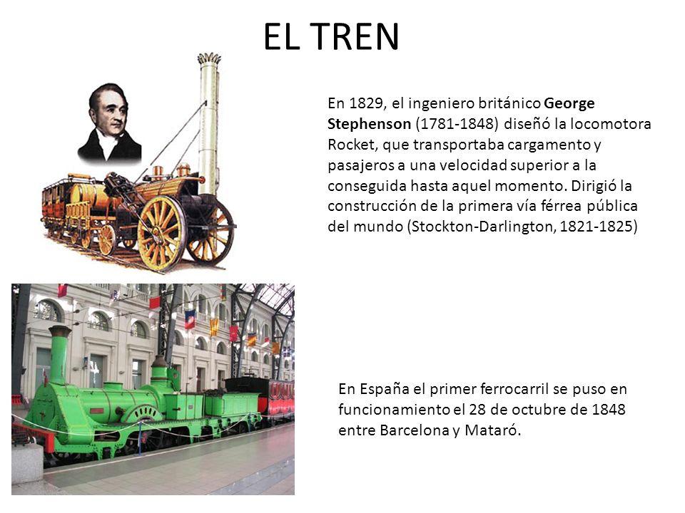 En España el primer ferrocarril se puso en funcionamiento el 28 de octubre de 1848 entre Barcelona y Mataró. En 1829, el ingeniero británico George St