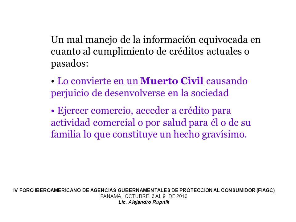 La normativa debiera prohibir el manejo indiscriminado de información.